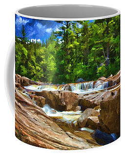 The Swift River Beside The Kancamagus Scenic Byway In New Hampshire Coffee Mug by John Haldane