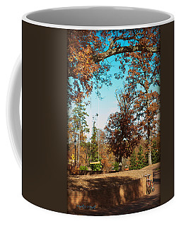 The Swing With Red Bicycle - Davidson College Coffee Mug