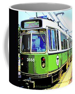 The T Trolley Car Boston Massachusetts 1990 Poster Coffee Mug