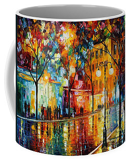 The Tears Of The Fall - Palette Knife Oil Painting On Canvas By Leonid Afremov Coffee Mug