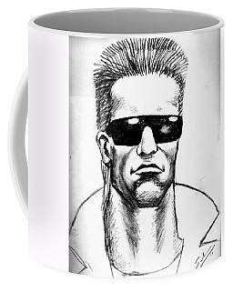 Coffee Mug featuring the painting Arnold Schwarzenegger by Salman Ravish