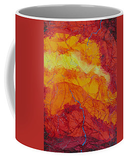 Coffee Mug featuring the mixed media The Thin Blue Line by Michele Myers