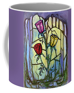 Coffee Mug featuring the painting The Three Roses by Terry Webb Harshman