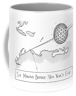 The Times Square Ball Is High Above The Northeast Coffee Mug