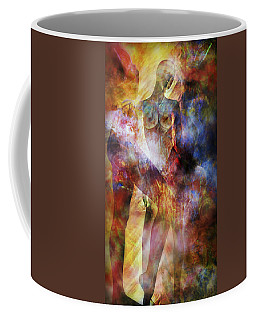 Coffee Mug featuring the mixed media The Touch by Ally  White