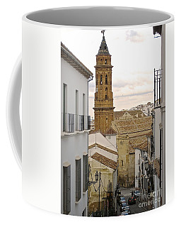 Coffee Mug featuring the photograph The Town Tower by Suzanne Oesterling