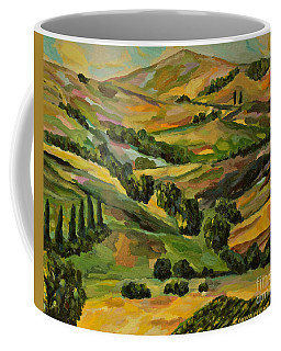 The Tuscan Valley Coffee Mug by Michael Cinnamond
