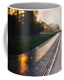 Coffee Mug featuring the photograph The Vietnam Wall Memorial  by John S