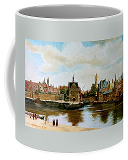 Coffee Mug featuring the painting The View Of Delft by Henryk Gorecki