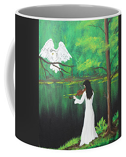 The Violinist By The River   Coffee Mug