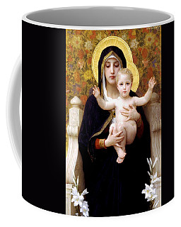 The Virgin Of The Lilies Coffee Mug