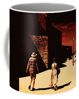 Coffee Mug featuring the photograph The Walk by Nick  Biemans