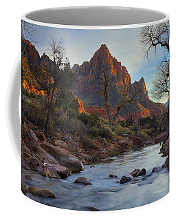 The Watchman In Winter-2 Coffee Mug