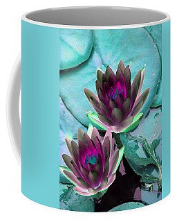 Coffee Mug featuring the photograph The Water Lilies Collection - Photopower 1124 by Pamela Critchlow
