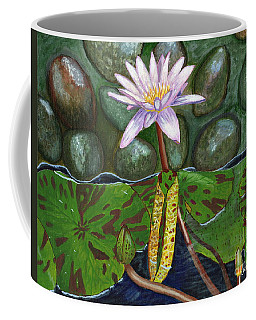Coffee Mug featuring the painting The Waterlily by Laura Forde