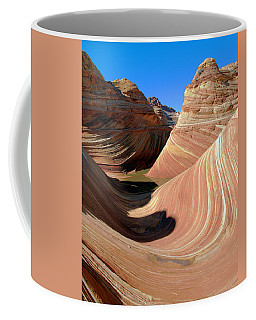 Coffee Mug featuring the photograph 'the Wave' North Coyote Buttes 19 by Jeff Brunton