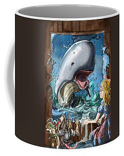 Coffee Mug featuring the painting The Whale by Reynold Jay