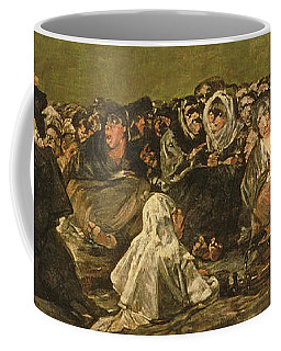 The Witches Sabbath Or The Great He-goat, One Of The Black Paintings, C.1821-23 Oil On Canvas Coffee Mug