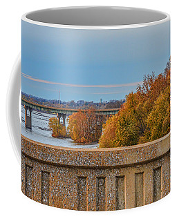 The Wright's Ferry Bridge In Fall Coffee Mug