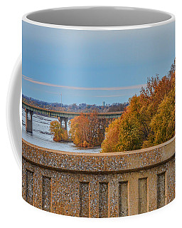 The Wright's Ferry Bridge In Fall Coffee Mug
