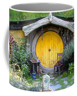 The Yellow Hobbit Door Coffee Mug by Venetia Featherstone-Witty