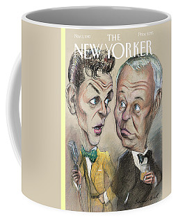 The Young Frank Sinatra Looking At The Old Frank Coffee Mug