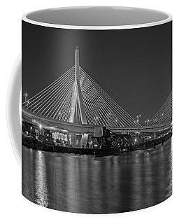 The Zakim Bridge Bw Coffee Mug by Susan Candelario