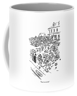 Front Yard Drawings Coffee Mugs