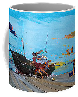 They..in The Harbours... Coffee Mug by Lazaro Hurtado