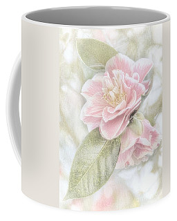 Think Pink Coffee Mug by Peggy Hughes