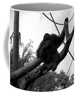 Coffee Mug featuring the photograph Thinking Of You Black And White by Joseph Baril