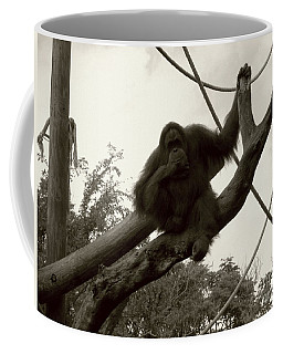 Coffee Mug featuring the photograph Thinking Of You Sepia by Joseph Baril