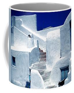 Thirasia Island Ancient House Near Santorini Greece Coffee Mug