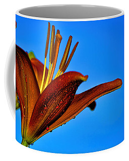 Thirsty Lily In Hdr Art  Coffee Mug
