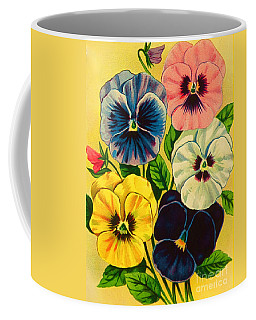 Pansy Flowers Antique Packaging Label  Coffee Mug