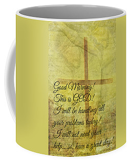 Coffee Mug featuring the digital art This Is God by Erika Weber