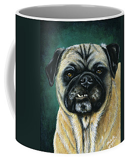 This Is My Happy Face - Pug Dog Painting Coffee Mug