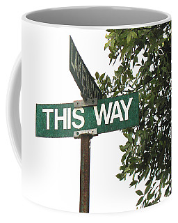 This Way Street Sign In Color Coffee Mug by Connie Fox