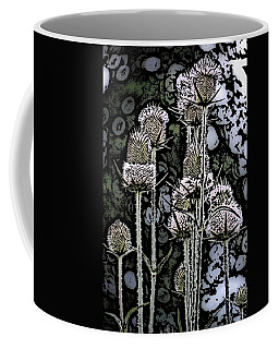 Coffee Mug featuring the digital art Thistle  by David Lane