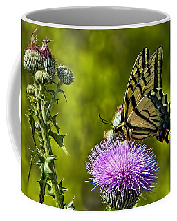 Coffee Mug featuring the photograph Thistle Do Just Fine by Gary Holmes