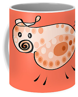 Thoughts And Colors Series Pig Coffee Mug