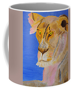Thoughts Of A Feline Coffee Mug by Meryl Goudey