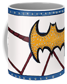 Coffee Mug featuring the sculpture Three Bat Signals by Robert Margetts