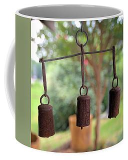 Three Bells - Square Coffee Mug by Gordon Elwell
