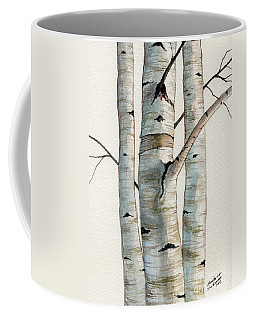 Three Birch Trees Coffee Mug