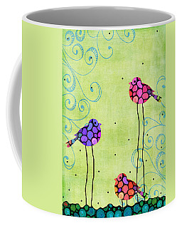 Three Birds - Spring Art By Sharon Cummings Coffee Mug
