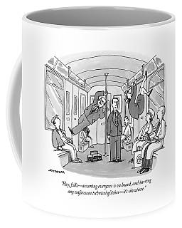 Three Businesspeople Dance Acrobatically Coffee Mug
