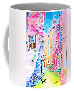 Three Cats In The Alley Coffee Mug