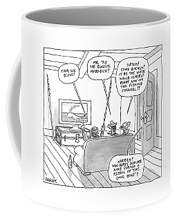 Three Characters From Moby Dick Spot The Whale Coffee Mug