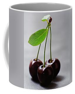 Three Cherries On A Stem Coffee Mug